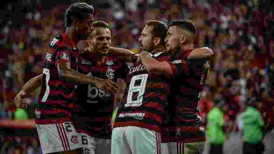 Os jogadores do Flamengo vivem a expectativa pelo título do Campeonato Carioca - Alexandre Vidal / Flamengo