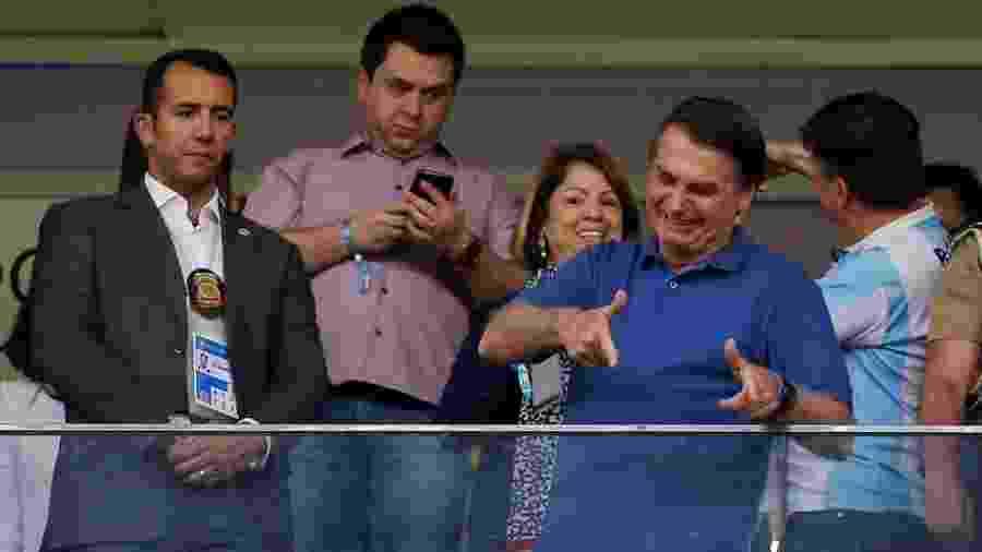 Presidente foi ao estádio Mané Garrincha para acompanhar o duelo entre Brasil e Qatar - Adriano Machado/Reuters