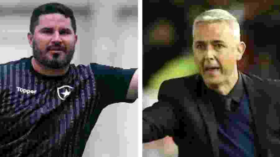Eduardo Barroca e Tiago Nunes rivalizam desde as categorias de base com Botafogo e Athletico-PR - Site oficial do Botafogo / Agustin Marcarian - Reuters