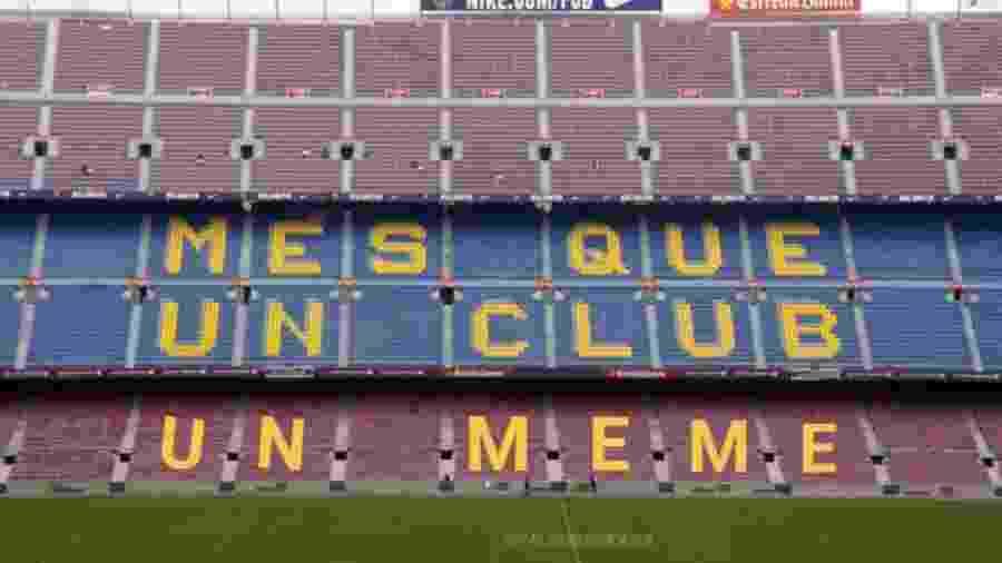 Meme com derrota do Barcelona para o Levante zoa o Camp Nou - reprodução/Twitter