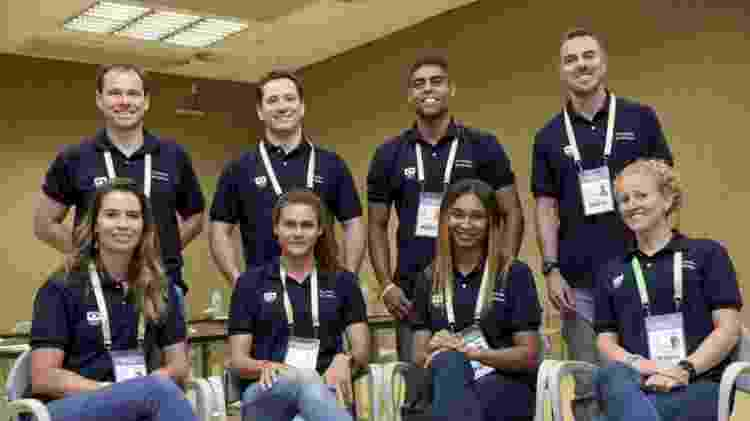 Integrantes da Comissão de Atletas do Comitê Olímpico do Brasil: - COB - COB