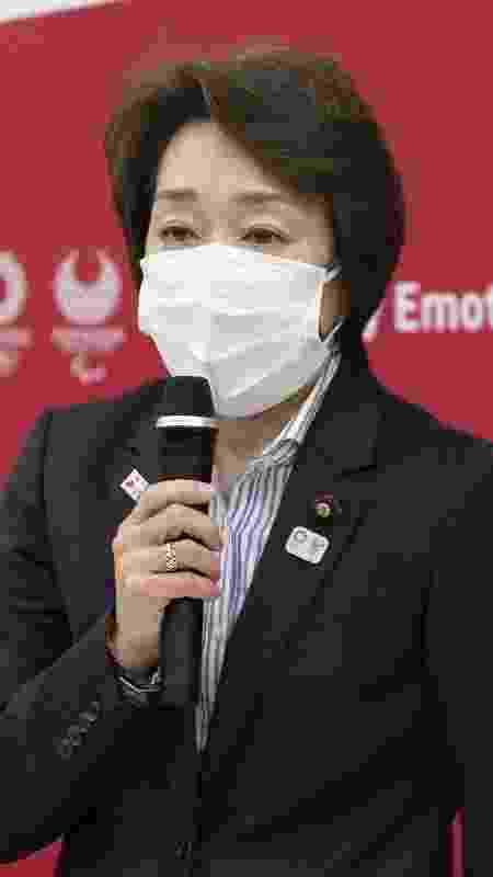 Seiko Hashimoto, presidente do Comitê Organizador dos Jogos Olímpicos de Tóquio - Yamazaki Yuichi/Pool via Xinhua - Yamazaki Yuichi/Pool via Xinhua