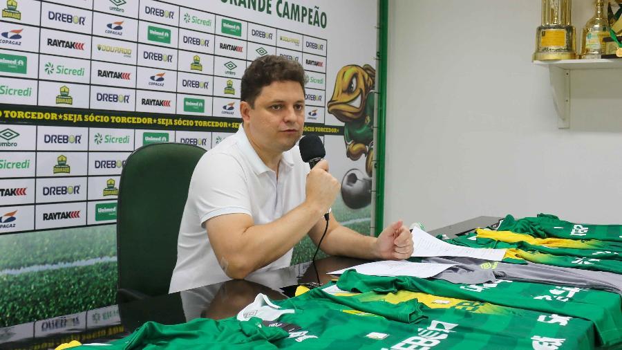 Vice-presidente do Cuiabá, Cristiano é um dos integrantes da família Dresch que administra o clube  - Divulgação/Cuiabá
