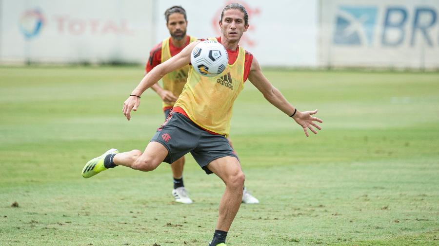 Filipe Luís pretende aproveitar o que de bom o Fla fez no clássico contra o Flu - Alexandre Vidal / Flamengo