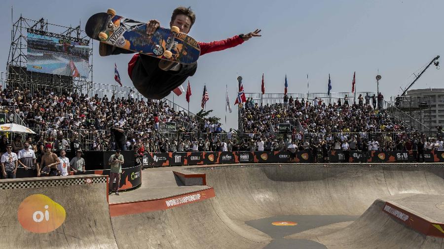 Skatista brasileiro Luizinho se classificou para os Jogos Olímpicos de Tóquio - Adriano Vizoni