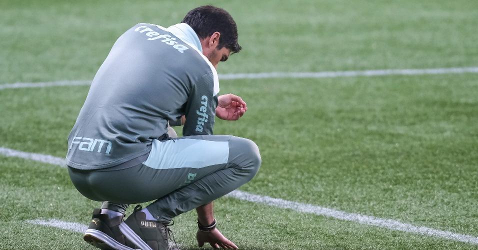 Abel Ferreira no jogo entre Palmeiras e Chapecoense