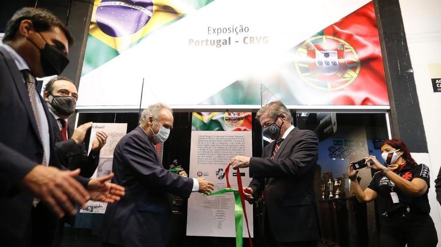 Cônsul-Geral de Portugual, Luís Gaspar e Presidente do Vasco, Jorge Salgado - Divulgação/Vasco