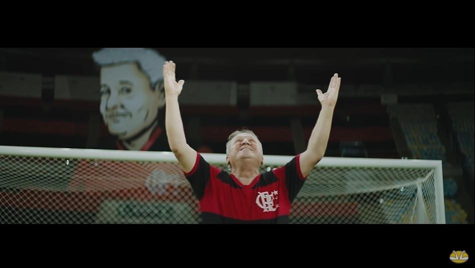 Patrocinador do Flamengo usou ídolo do clube como garoto-propaganda em campanha do Dia dos Pais