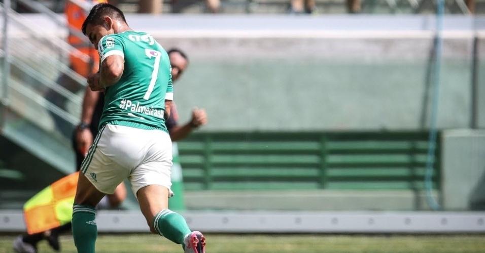 Dudu recolocou o Palmeiras à frente no marcador no movimento jogo em São Paulo