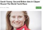Velejadora britânica morre após ser derrubada de iate no Oceano Pacífico - Reprodução/BBC