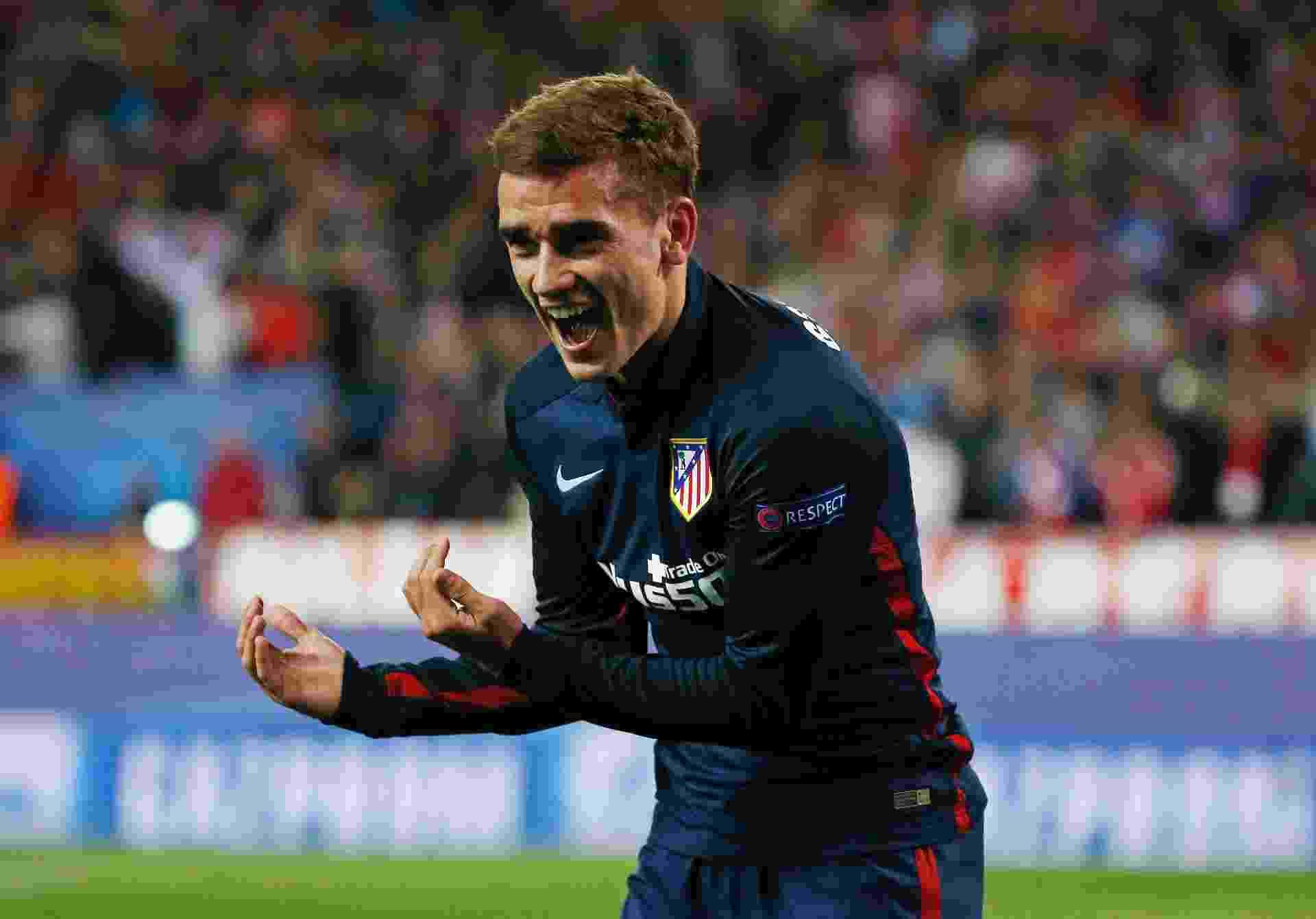 Antoine Griezmann abriu o placar para o Atlético de Madri contra o Barcelona pela Liga dos Campeões - Sergio Perez/Reuters