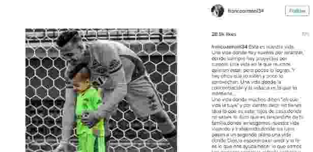 Mensagem Franco Armani - Reprodução/Instagram - Reprodução/Instagram