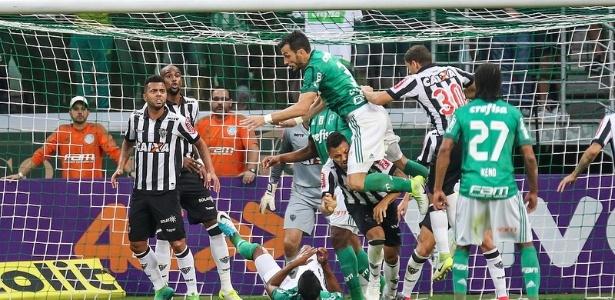 Atlético-MG e Palmeiras empataram sem gols no primeiro turno, em São Paulo