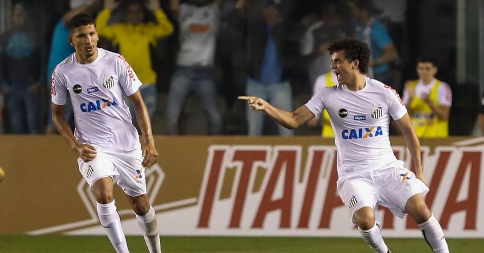 Victor Ferraz do Santos comemora seu gol durante partida contra o Flamengo pela Copa do Brasil