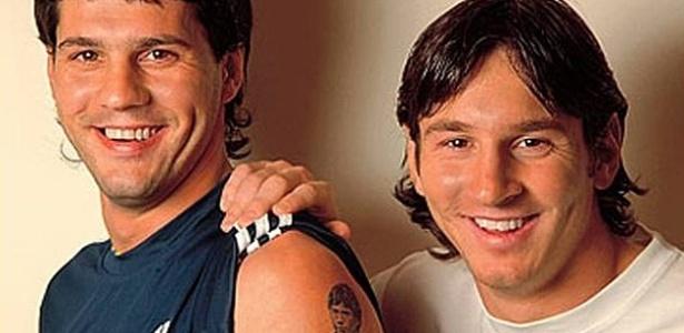 Matías e Lionel Messi