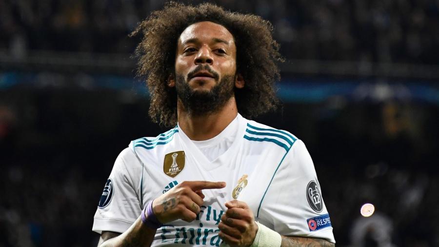Marcelo comemora após marcar pelo Real Madrid contra o PSG - Gabriel Bouys/AFP