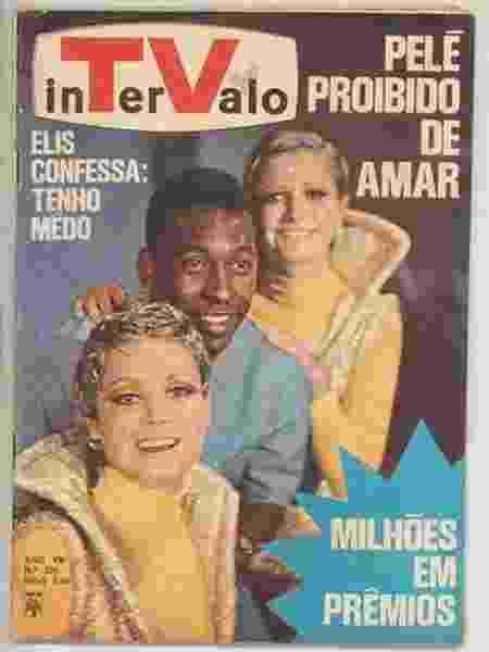 """Revista sobre televisão coloca Pelé na capa: """"Proibido de amar"""", em alusão à trama com alienígenas e o personagem do Rei - Reprodução"""
