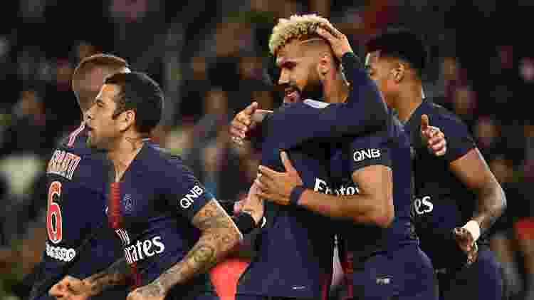 PSG comemora primeiro gol contra o Strasbourg - POUJOULAT / AFP - POUJOULAT / AFP