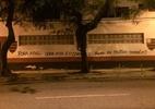 Após polêmica, muro da Gávea é pichado de novo com ironia a diretor do Fla - Reprodução