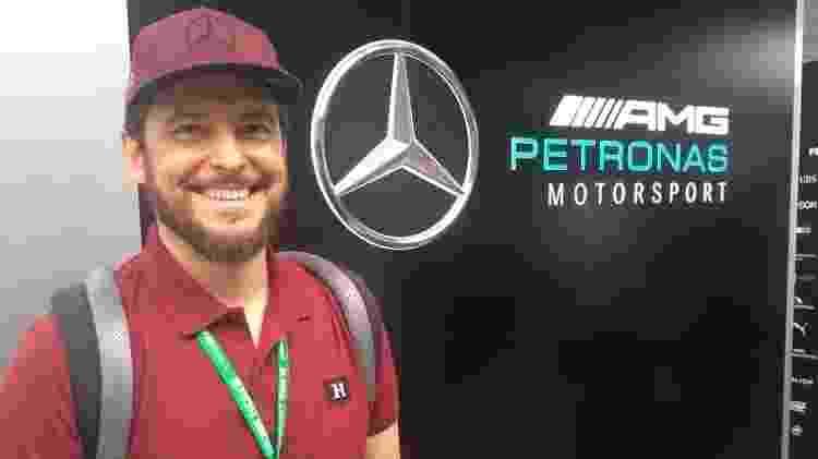 Raí Caldato fez o design do capacete que será usado por Hamilton no GP do Brasil - José Edgar de Matos/UOL
