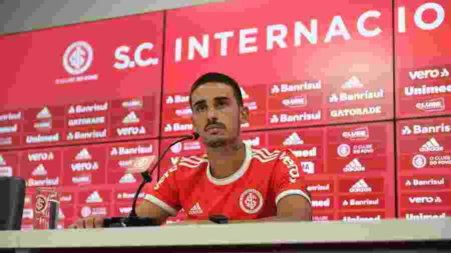 Thiago Galhrardo, reforço do Internacional, já era conhecido do técnico Eduardo Coudet - Ricardo Duarte/Inter
