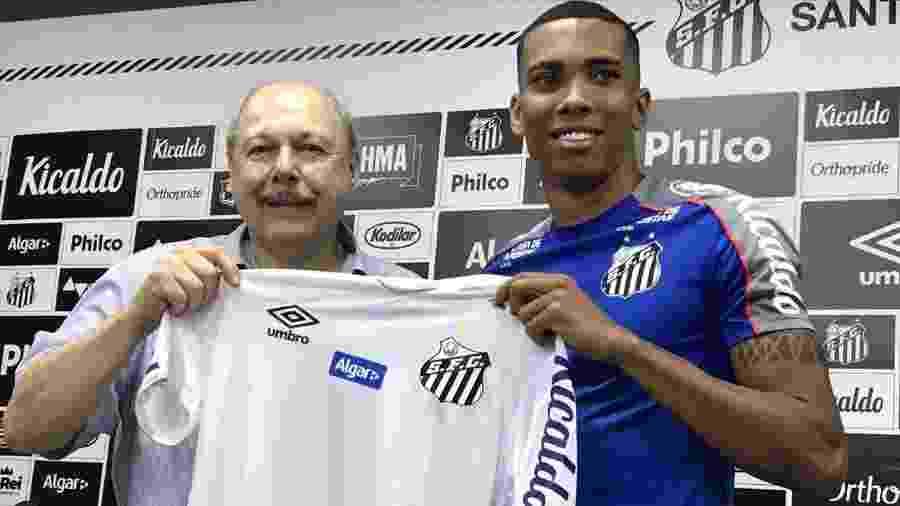 Madson é apresentado como novo reforço do Santos no mercado da bola - UOL