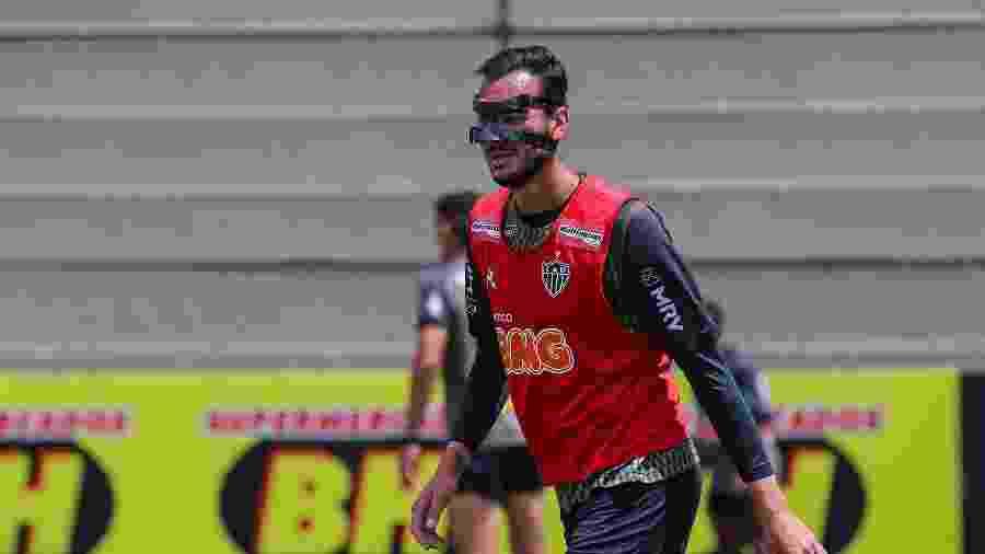Réver fraturou o nariz no último jogo e tem presença incerta neste sábado - Pedro Souza/Atlético-MG