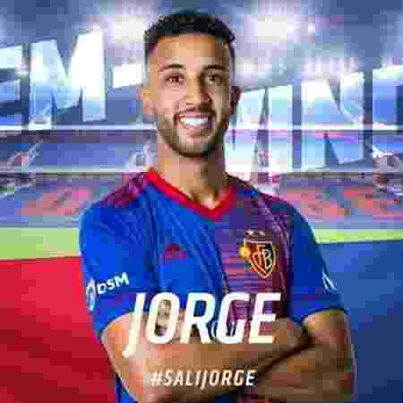 Lateral Jorge foi anunciado pelo Basel - Divulgação/Basel