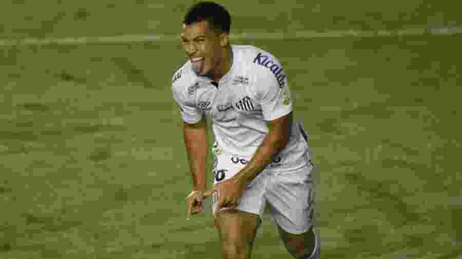 Marcos Leonardo, 17 anos, marcou o gol da vitória do Santos sobre o Defensa y Justicia-ARG na Libertadores - Ivan Storti/Santos FC