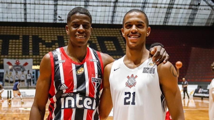 Georginho de Paula, do São Paulo, e irmão JP de Paula, do Corinthians - Reprodução/Instagram