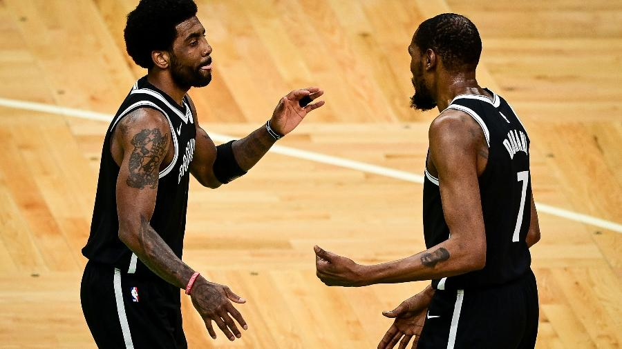Kyrie Irving e Kevin Durant, dupla do Brooklyn Nets na NBA - Getty Images