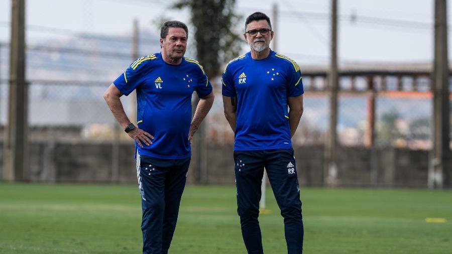 Luxemburgo e Ricardo Rocha mudaram o ambiente da Raposa desde que chegaram ao clube - Gustavo Aleixo/Cruzeiro