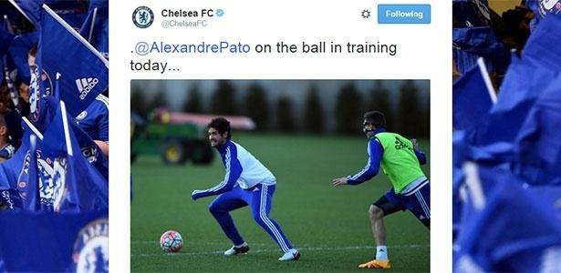 Pato treina no Chelsea - Reprodução/Twitter