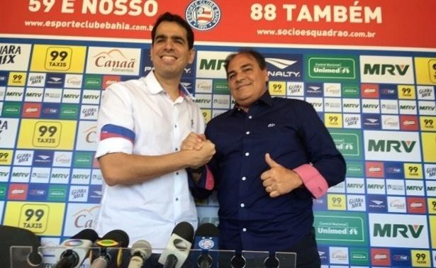 Marcelo Sant'Ana, presidente do Bahia, e Nei Pandolfo, diretor de futebol