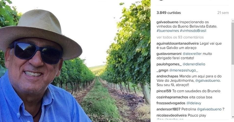 A região da Campanha Gaúcha tem um projeto para promover o turismo e a imagem do apresentador como investidor da região é festejada