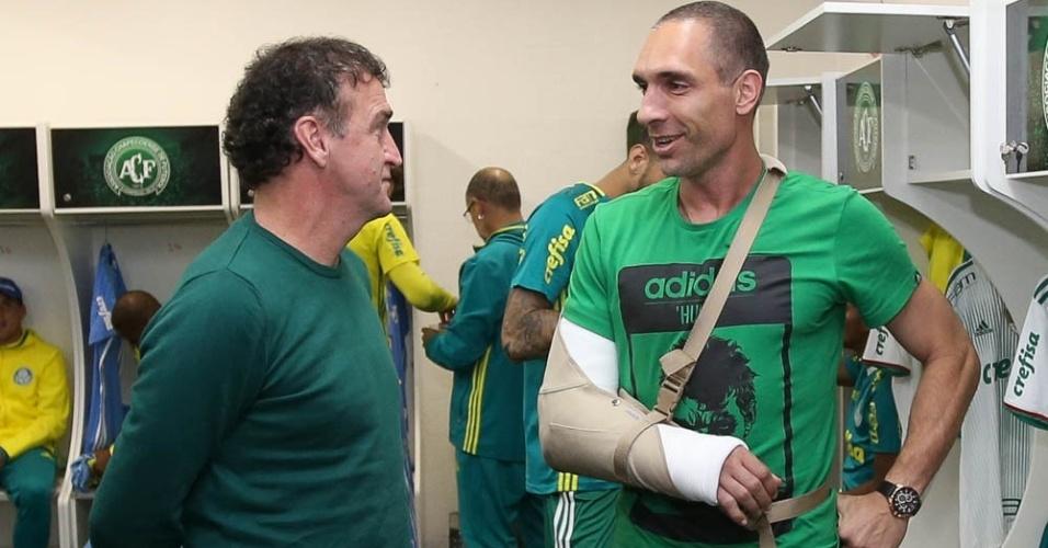 Fernando Prass Cuca Palmeiras braço