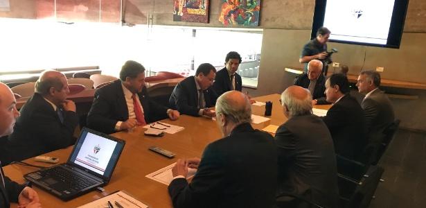 Reunião do Conselho de Administração do São Paulo, no Morumbi
