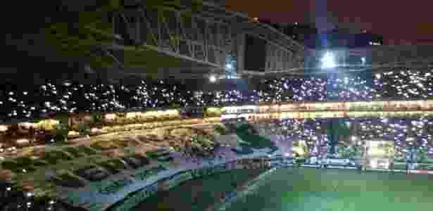 Allianz Parque fica às escuras antes de clássico entre Palmeiras e Santos - José Edgar de Matos/UOL