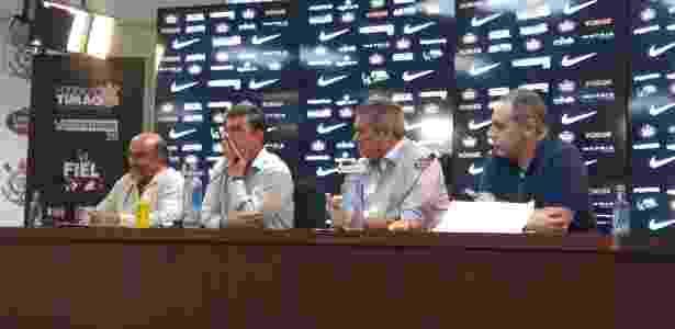 Luis Paulo Rosenberg, Andrés Sanchez, Matias Antonio Romano e Roberto Gavioli em evento no CT - Gabriel Carneiro/UOL
