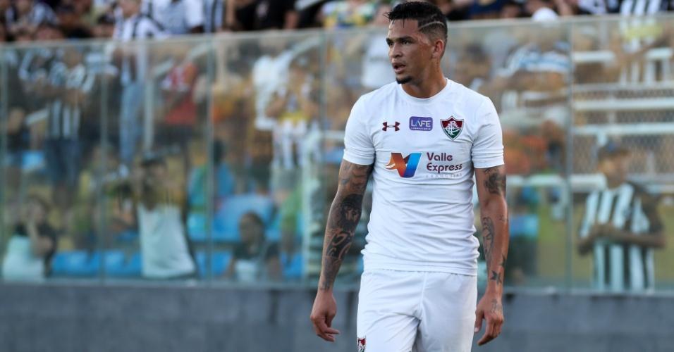 O atacante Luciano estreou pelo Fluminense na derrota para o Ceará