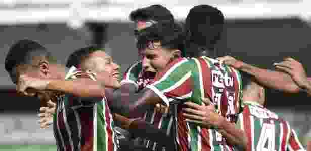 Sub-17 do Flu comemora  mais um gol: cena rotineira para equipe esse ano - Mailson Santana/Fluminense