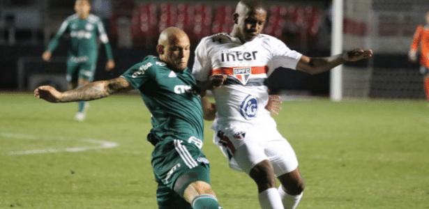 Dividida entre jogadores de Palmeiras e São Paulo na Super Copa sub-20, no Morumbi - Afonso Pastore/saopaulofc.net