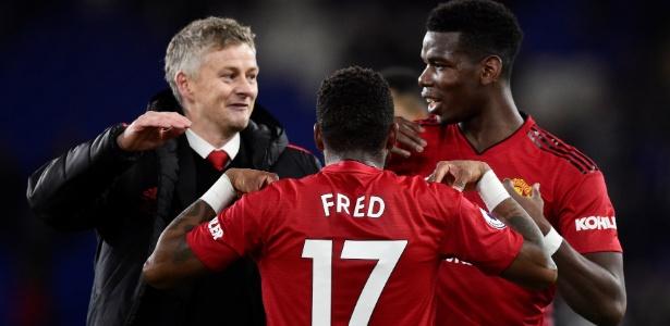 Paul Pogba foi titular na primeira partida de Solskjaer à frente do United - Rebecca Naden/Reuters