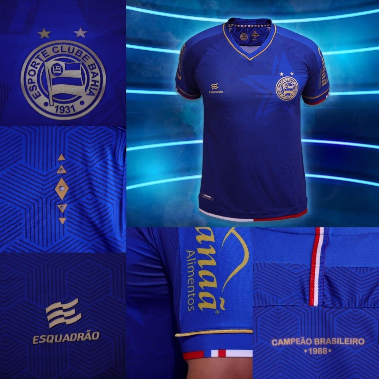 a2cdb502831d1 Detalhes do novo terceiro uniforme do Bahia