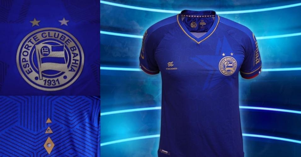 Detalhes do novo terceiro uniforme do Bahia