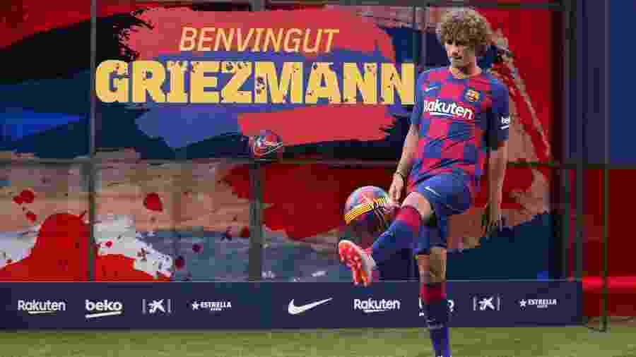 Griezmann já está integrado ao elenco do Barcelona - Albert Gea/Reuters