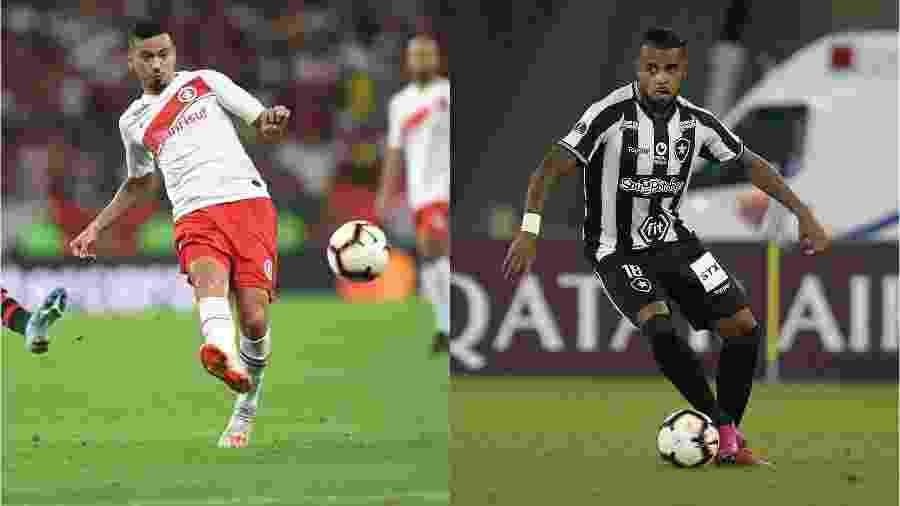 Lindoso e Alex Santana têm direitos econômicos renegociados no mercado da bola - Ricardo Duarte/Internacional e Vítor Silva/Botafogo