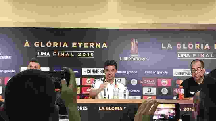 Técnico do River Plate, Marcelo Gallardo concede entrevista coletiva antes de final da Libertadores contra o Flamengo - Leo Burlá / UOL Esporte