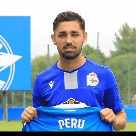 O jogador Peru Nolaskoain, emprestado pelo Atlético de Bilbao ao Deportivo La Coruña - Reprodução/Twitter