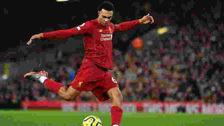 Trent Alexander-Arnold, lateral direito do Liverpool - Paul Ellis/AFP